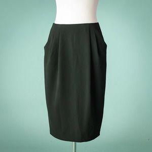 MM Lafleur 6 Williamsburg Black Knee Length Skirt